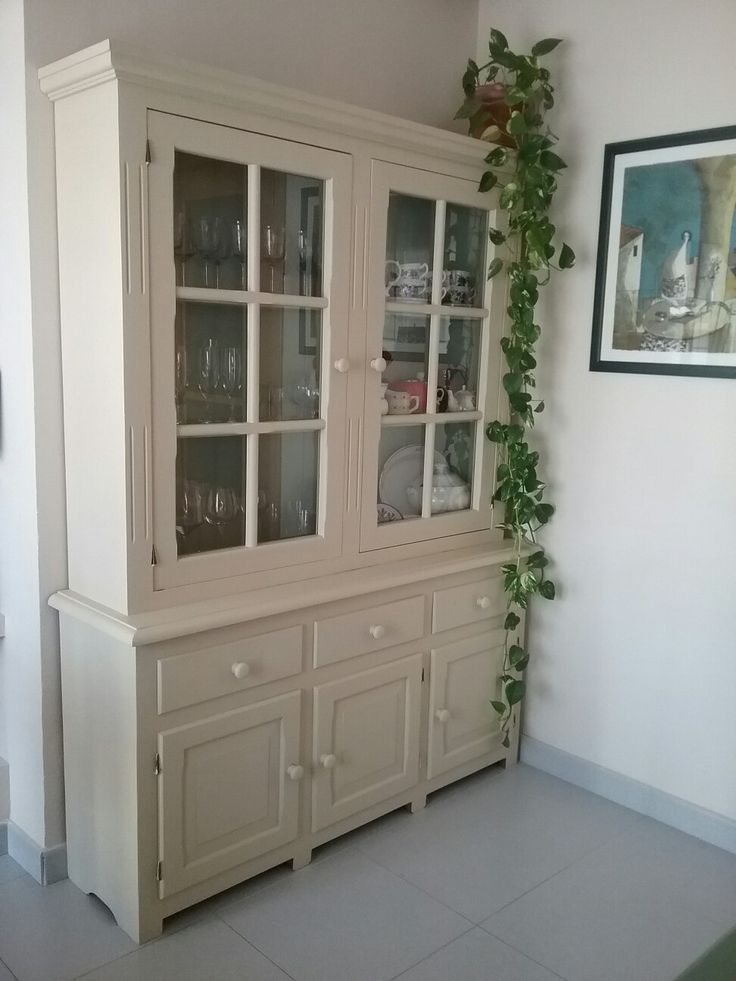 vitrina pintada amb chalk paint