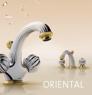 Jado-Oriental  Begegnen Sie der Magie von Tausendundeiner Nacht: Die dekorativen Modelle dieser Kollektion sind ein klares Bekenntnis zu Luxus und klassischen Werten. Sinnlich und verträumt verwandelt ORIENTAL das Bad in eine Stätte der Ruhe und Erholung.