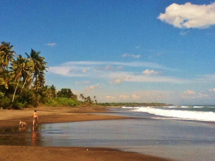The best Sunday - beach all to ourselves, north of #Canggu, #Bali #Ocean