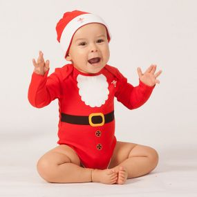 WRU Baby Christmas Body and Hat Set
