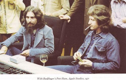 George Harrison and Pete Ham