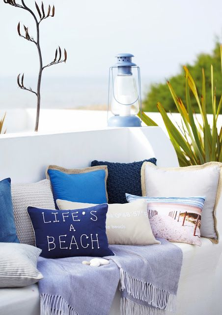 Lovely shot of Tesco's seaside inspired home range by blogger Modern Mummy