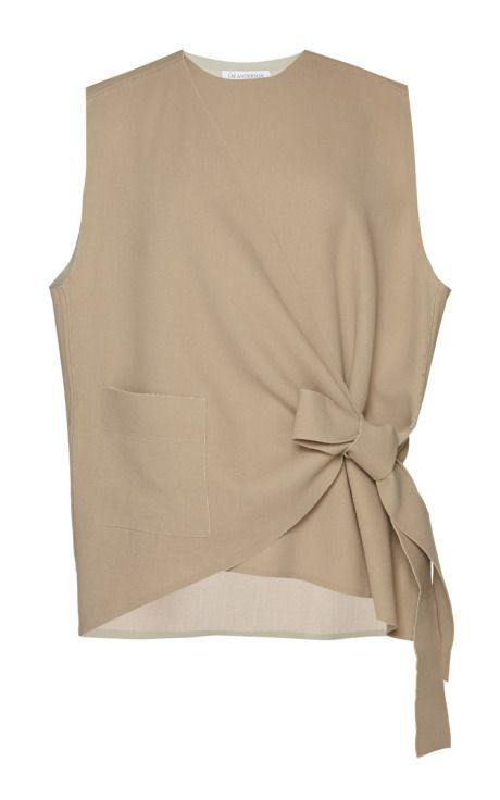 ^Sleeveless Wrap Knot Shirt by J.W. Anderson: