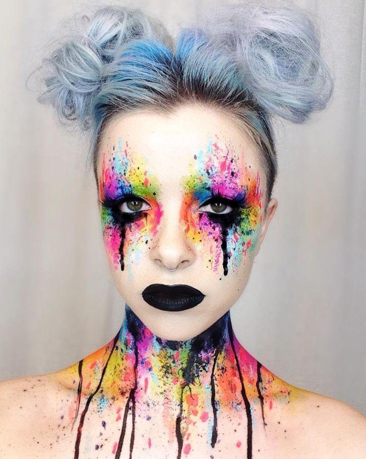 Color Explosion Creative Halloween Makeup 25 Creative Halloween