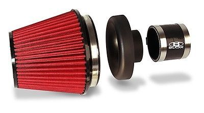 "BLOX Racing 3"" Inch Inlet Black VELOCITY STACK & AIR INTAKE Filter Universal Kit"