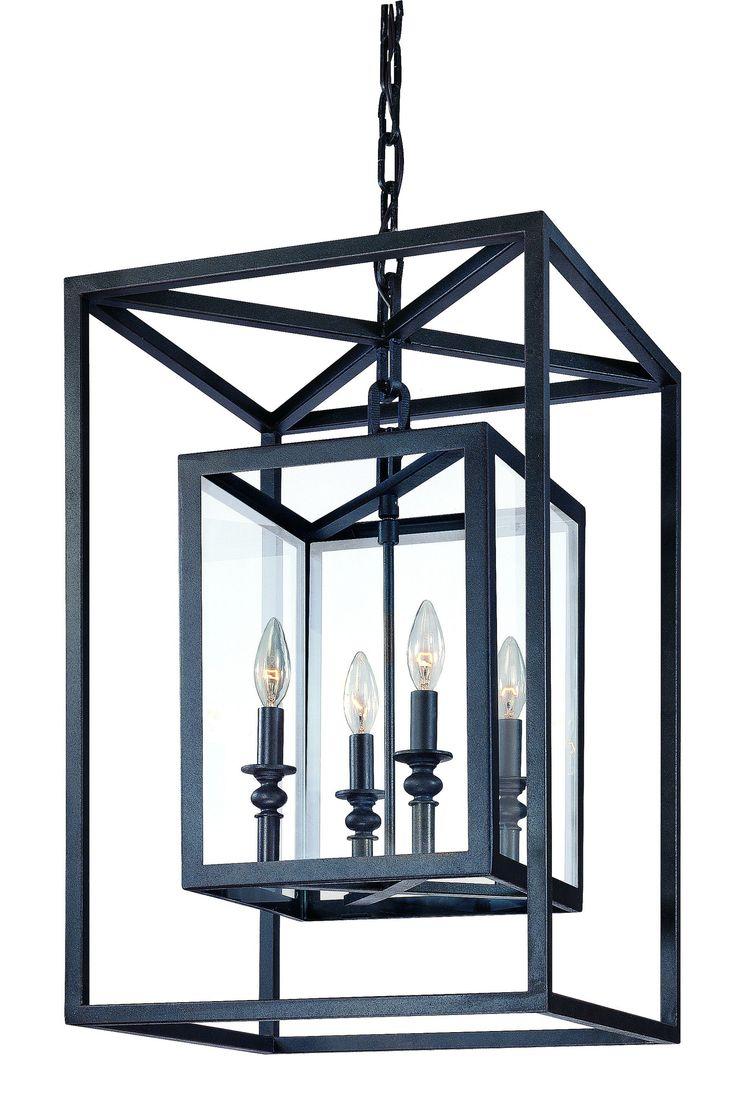 "via Wayfair - Troy Lighting Morgan 4 Light Medium Foyer Pendant $658 Fixture: 24"" H x 16"" W x 16"" D"