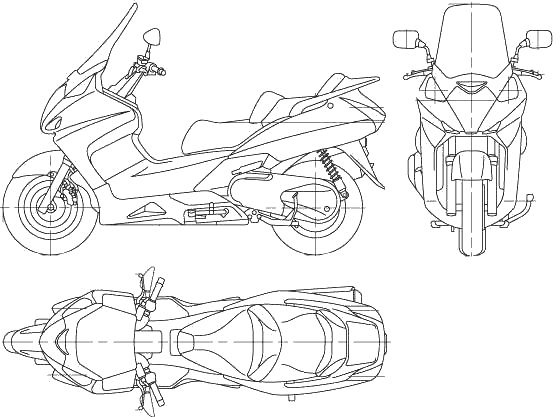 Honda-Silver-Wing-600_Free_BluePrint_CGfrog_com