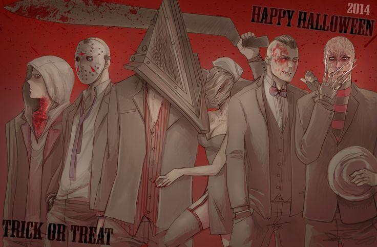 Ruvik, Jason Voorhees (Friday the 13th), Pyramid Head and Nurse (Silent Hill), Eddie Gluskin (Outlast) and Freddy Krueger (A Nightmare on Elm Street)