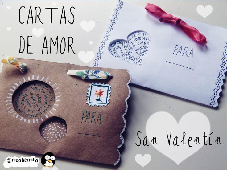 Cartas, sobres o tarjetas para regalar en San Valentín