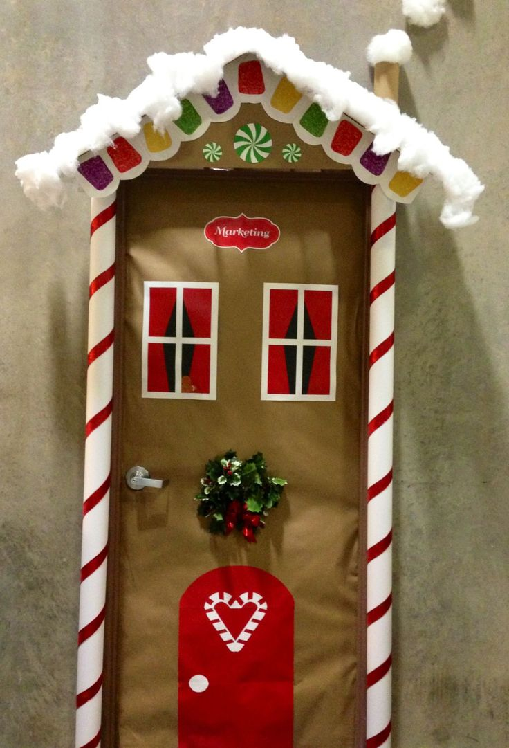 8 best Puertas images on Pinterest Christmas door, Decorated doors - Halloween Office Door Decorating Contest Ideas