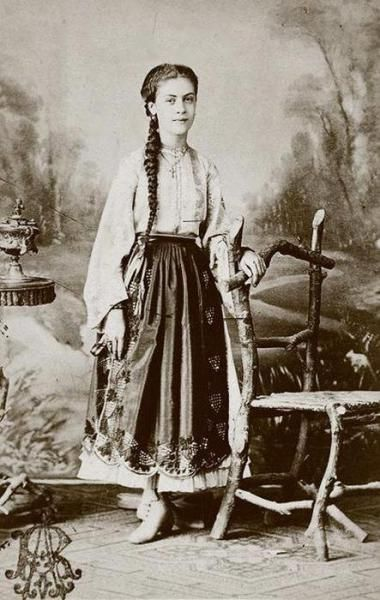 XIX century peasant woman of Vallachia (Muntenia)