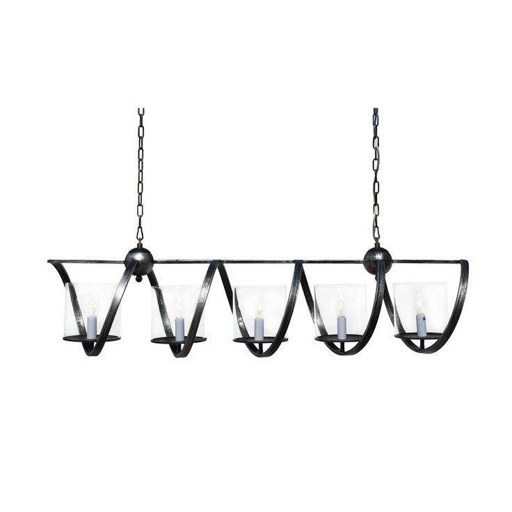 blaze 5 light rectangular chandelier