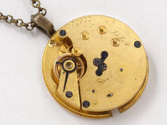 Collar Steampunk Vintage oro bolsillo reloj movimiento artes y