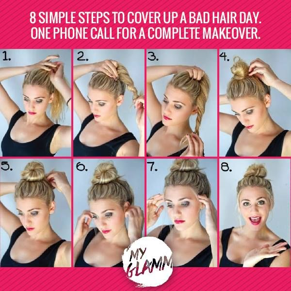Easy to do hairstyles at home. For professional hairstyles, call our home salon services. Visit www.myglamm.com or Call us on 1800 3000 4526 to book now!