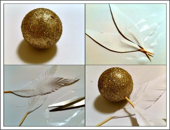 Golden Snitch DIY from Harry Potter. These would be great for Christmas ornaments or to hang from the car mirror.