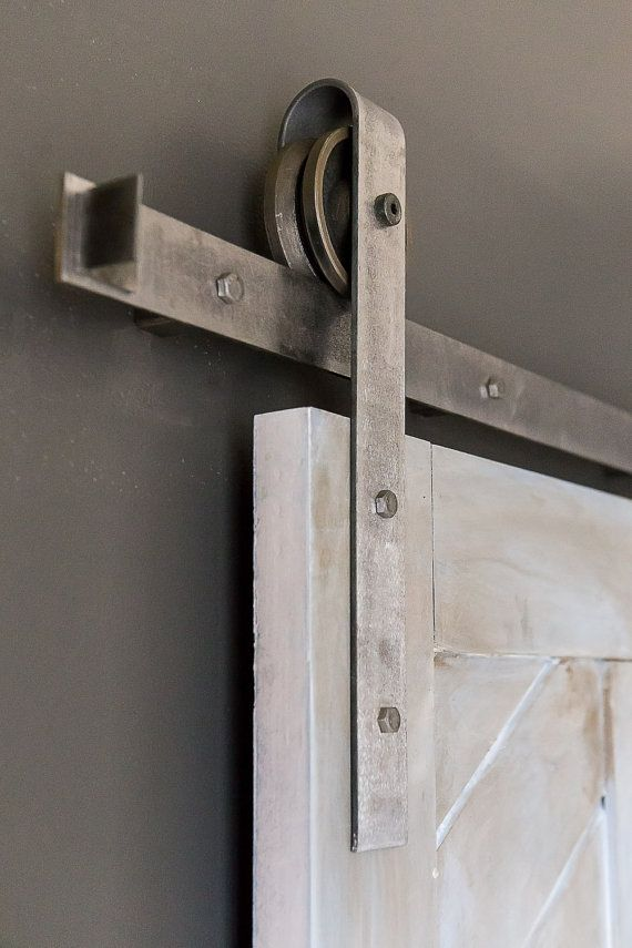 Heavy Duty Industrial Sliding Barn Door Closet by TheWhiteShanty