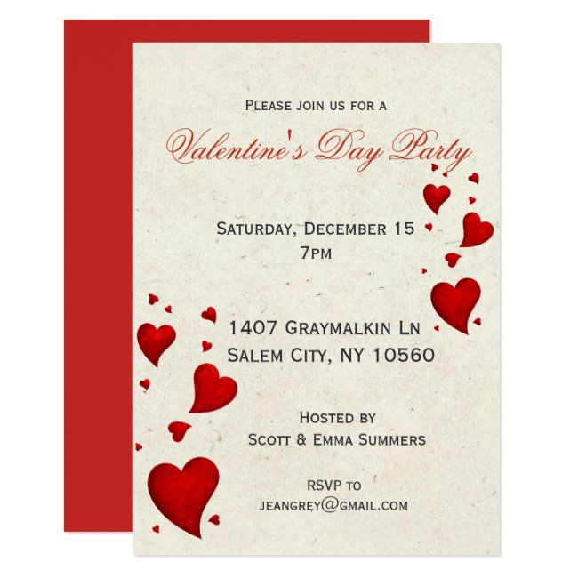 Modern Valentine S Day Party Invitation Invite Zazzle Com In