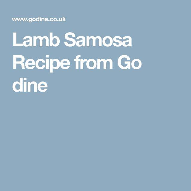 Lamb Samosa Recipe from Go dine
