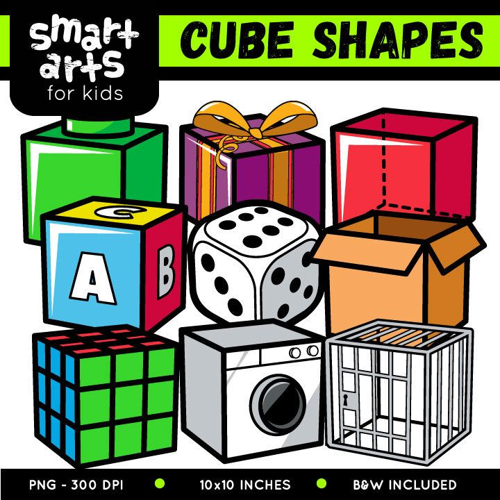 Cube Shapes Clip Art Clip Art Shapes Art For Kids