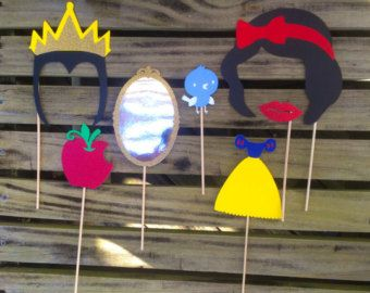 Snow White Photo Booth Props Includes Snow White Evil Queen