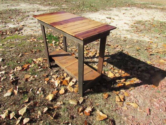 Sofa Table Solid Wood Sofa Table Rustic Sofa by SereneVillage, $145.00
