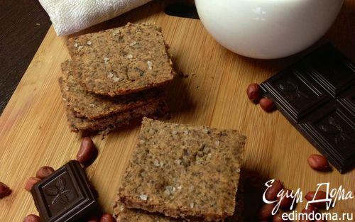 Рецепт – Песочное арахисовое печенье с горьким шоколадом