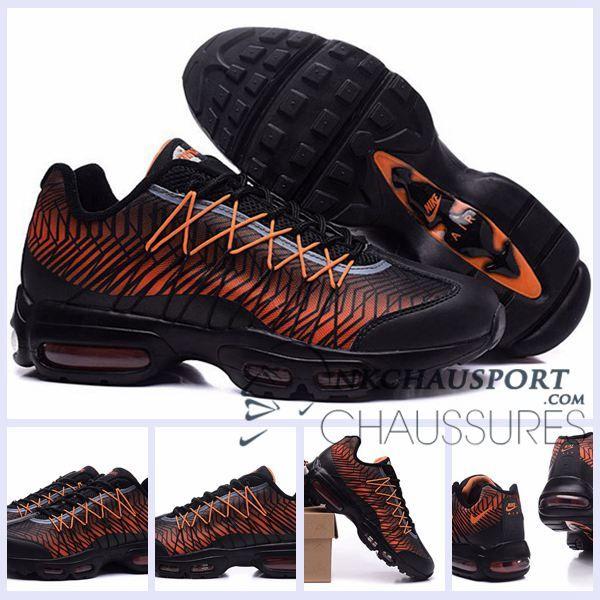 Nike Air Max 95 2015   Meilleur Chaussures Running Homme NoirRefleter Orange