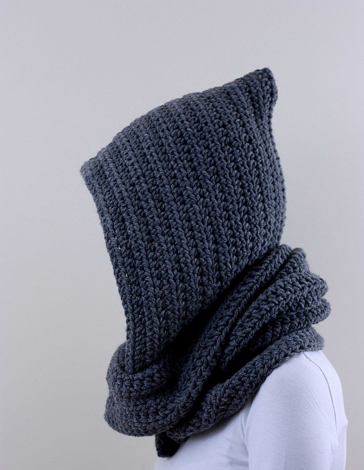 Hooded Scarf Hoodie Scarf Scoodie Men Gray Scarf. $79.00, via Etsy.