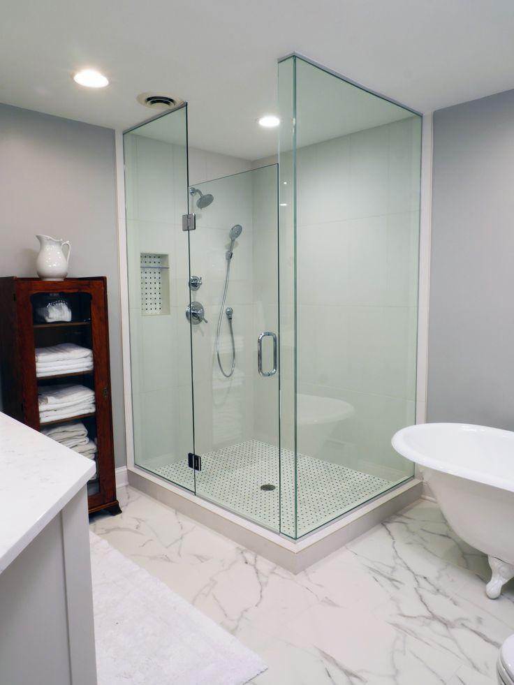 Our Work W/ J Carsten #frameless #shower # Minimalist #bathroom #designer ·  Minimalistischen BadezimmerMaster BadSpiegelFrameless ...