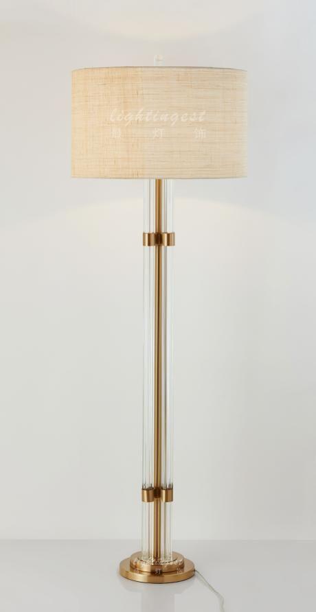 American French Mediterranean floor lamp【最灯饰】美式法式地中海玻璃铜新款落地灯