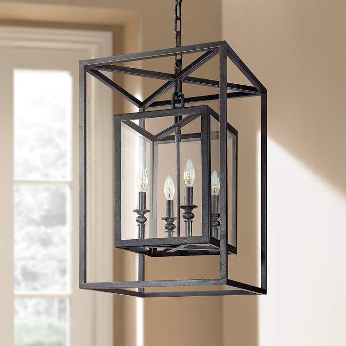 "Morgan 4-Light 16"" Wide Deep Bronze Pendant Light - #U8890 | Lamps Plus"