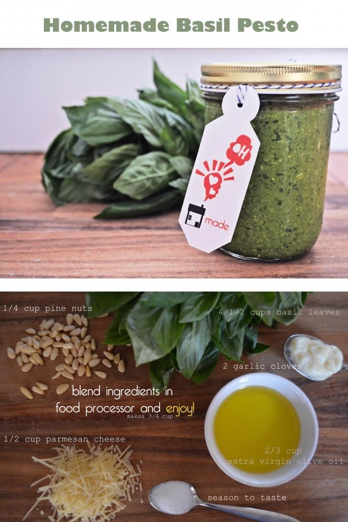 Give Homemade Basil Pesto + FREE Printable gift Tags
