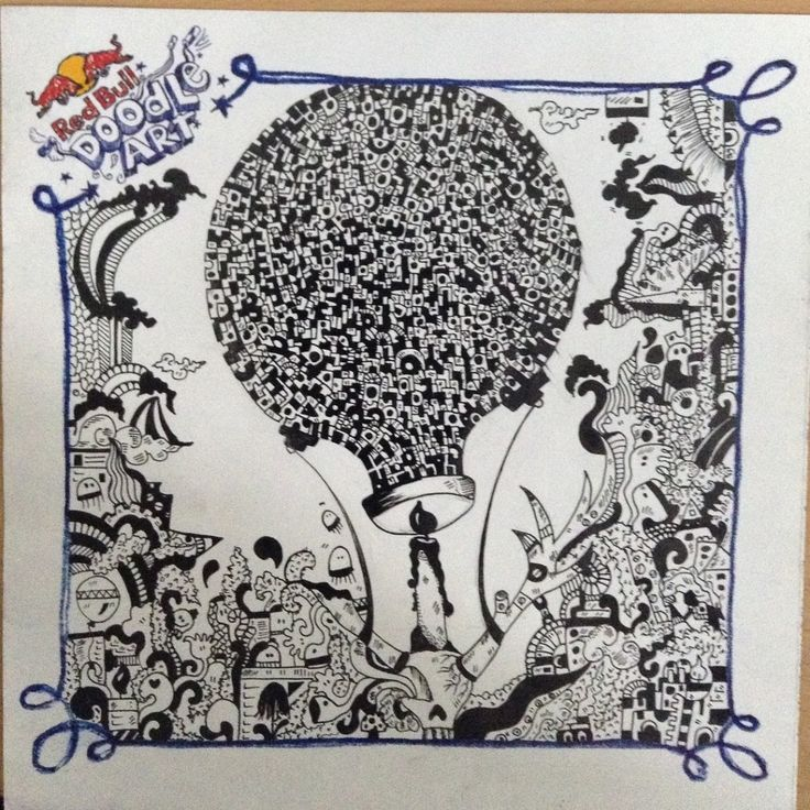 Red Bull Doodle Art Shalini jayalath