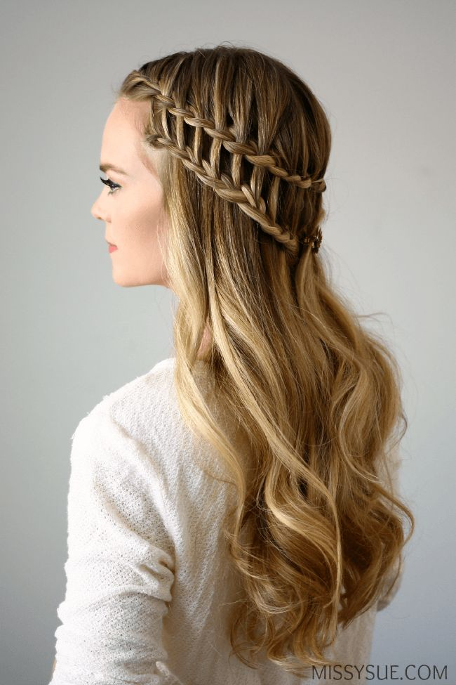 Half Up Ladder Braid. One of my bff did thissame style to my hair <3 (sorry for tmi)