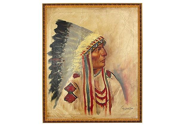 Plains Chief w/ War Bonnet Headdress by Ruby + George on @One Kings Lane
