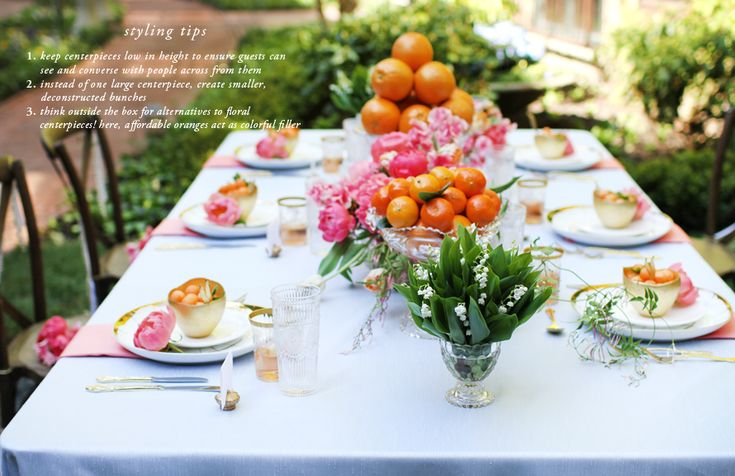 How to Style a Wedding Table // Styling by Anne BookOrange Floral, Wedding Tables, Book Theeverygirl, Parties Ideas, Anne Book, Centerpieces, Center Piece, Tables Style, Breakfast Parties