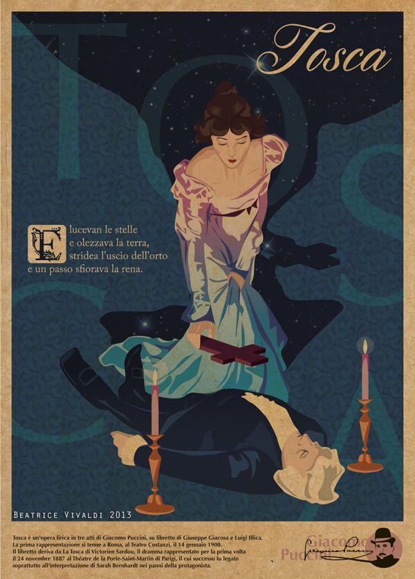 Tosca, Giacomo Puccini - Opera Poster