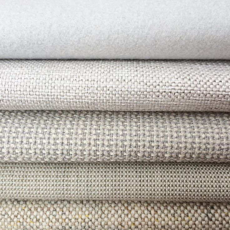 Textural textiles in an array of whites and creams.