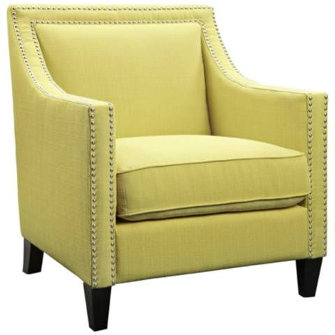 Flynn Aria Lemon Fabric Armchair - #1Y169 | Lamps Plus