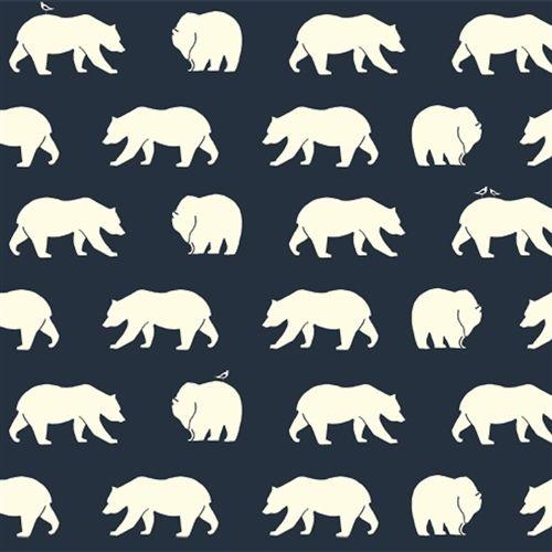 Birch Organic Fabrics Bear Hike Dusk Cotton
