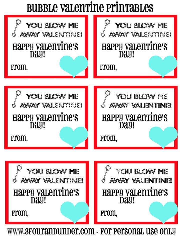 Trisha B Blog: Class Valentines {Bubbles}