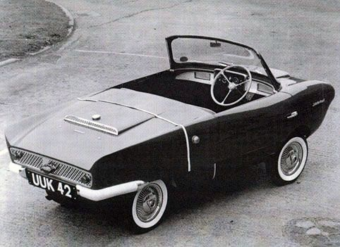 1958 Frisky Sport - 1957 Frisky Sport - The Frisky Sport convertible microcar was produced by Henry Meadows Vehicles Ltd. The Frisky Sport used a 328 cc Villiers engine and the car was capable of 56 mph. The Frisky also came as coupe model, and a 3-wheeled version was offered in 1959.