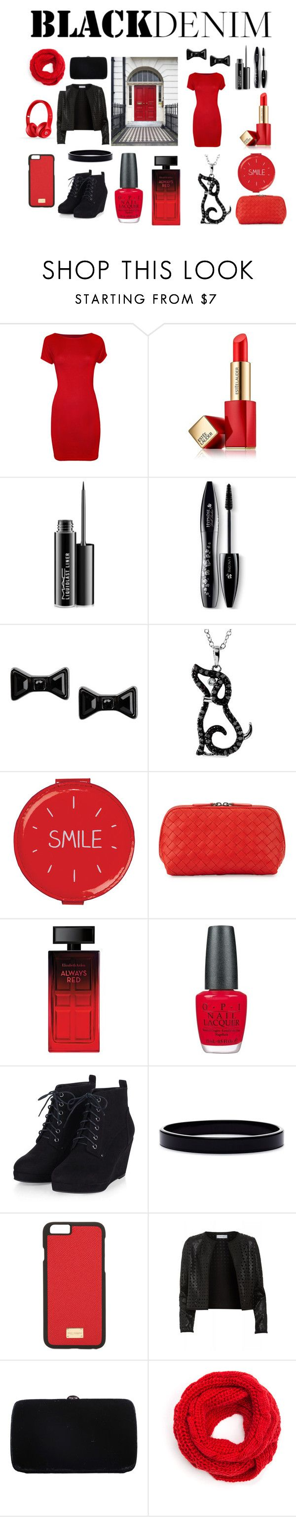 """""""forever red"""" by kittygirl2424 on Polyvore featuring WearAll, Estée Lauder, MAC Cosmetics, Lancôme, Marc by Marc Jacobs, Wild & Wolf, Bottega Veneta, Elizabeth Arden, OPI and L. Erickson"""
