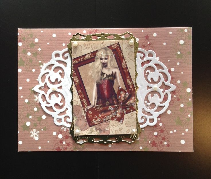 Small simple gothic/alternative xmas or winter birthday card.