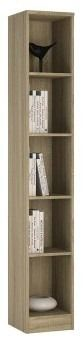 4 You Tall Narrow Bookcase In Sonoma Oak - Sonoma oak wood grain looks great on any piece of modern furniture and this tall and narrow bookcase from the 4 You range is certainly no exception. Complete with 4 fully adjustable shelves, this unit can be used for displaying and storing books or so much more. Great for displaying DVD collections or compact discs, ornaments or even family photographs, this sonoma oak grain bookcase is a highly versatile unit.