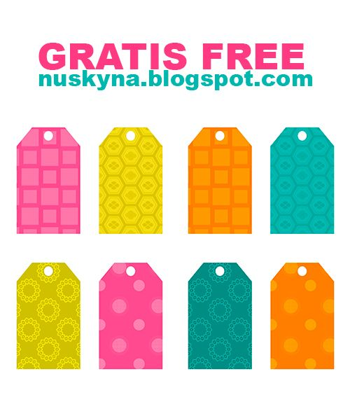 Imprimibles y PNG gratis para scrapbooking y otras manualidades. : Etiquetas para regalos gratis
