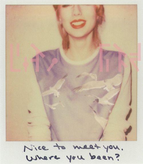 "Taylor Swift, Album '1989', ""Blank Space"" Polaroid"