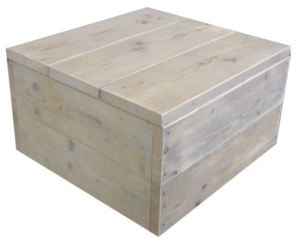 Hocker steigerhout vierkant
