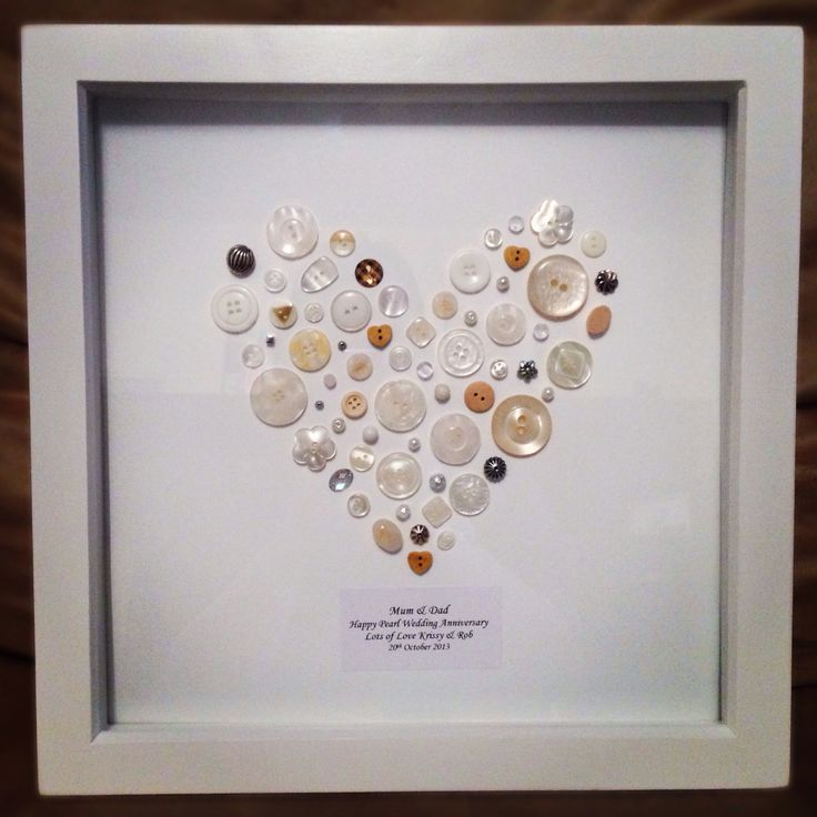 Pearl Weeding Anniversary Gift I Was Stuck On What To Buy My Parents So I Made Them This It