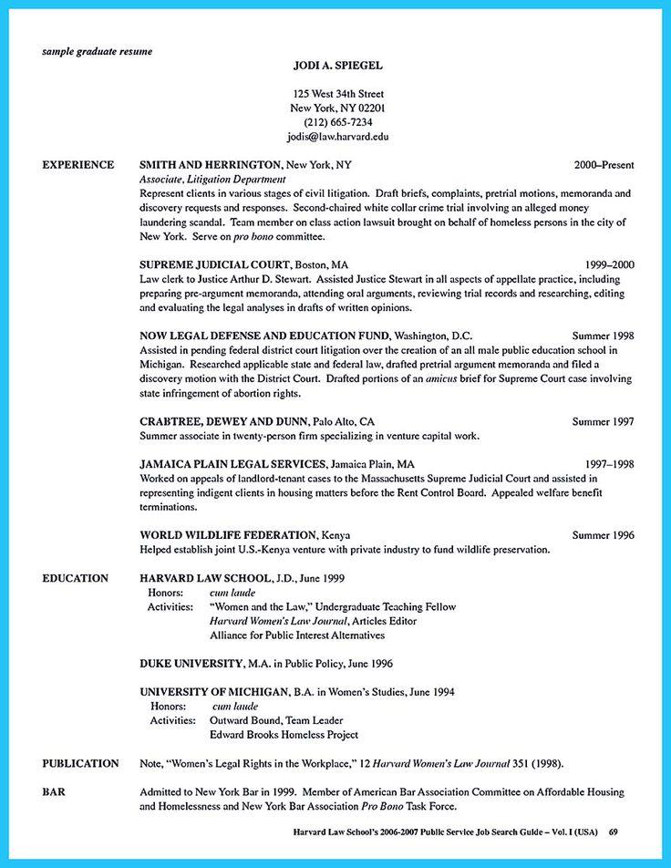 harvard law resume guide